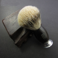 100% Ebony Wooden Round Handle Titan Men Shaving Brush Silvertip Badger Hair Knot Brushes Barber Beard Tools