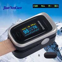 Oxymètre Oled doigt pouls SPO2 PR PI RR taux d'oxygène dans le sang taux respiratoire oxymètre De pulso Pulsioximetro avec étui