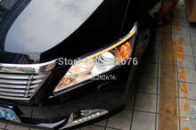 FREE SHIPPING, CHA EXTERNAL SPECIAL LED DAYLIGHT RUNNING LIGHT STRIP DRL EYEBROW FOR 2012-2014  CAMRY