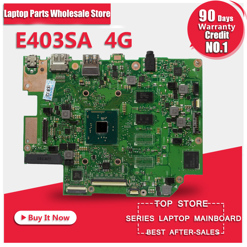 HOT!!!for Asus E403SA laptop motherboard 4G N3700 CPU with 128g HDD card 100% tested