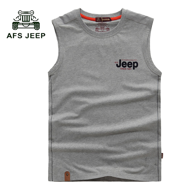 21aa8d67aff39 free shipping brand super cotton soft afs jeep o-neck sleeveless t-shirt  tank