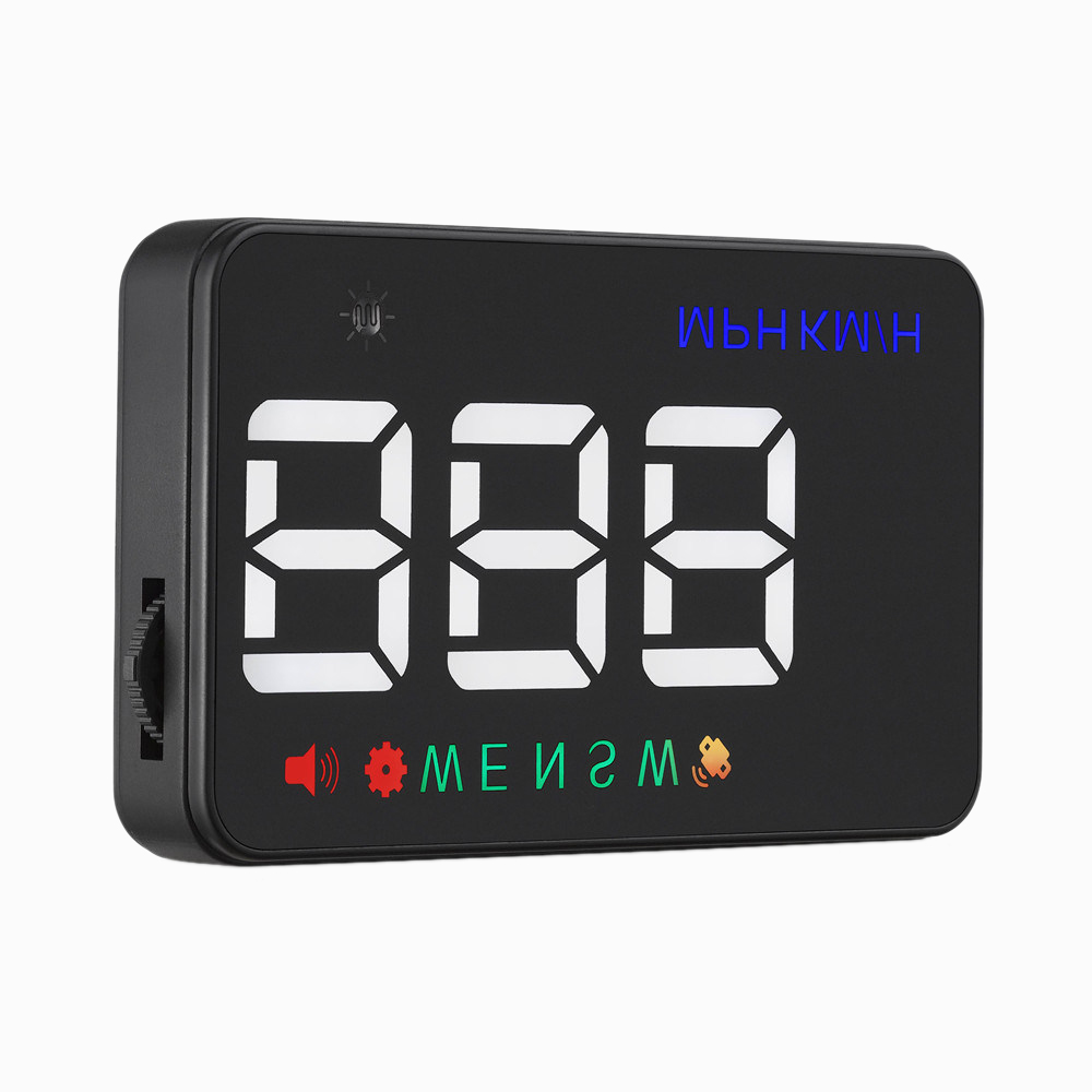 2018 Universal Car HUD GPS Speedometer Speedo Head Up Display Digital Over Speed Alert Windshield Projetor Auto Navigation