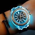 Corea EXO Reloj de Las Mujeres Relojes de Cuarzo Reloj de Moda Casual de Los Hombres Luminoso de Silicona Relogio Relojes de Cuarzo-reloj Montre Femme