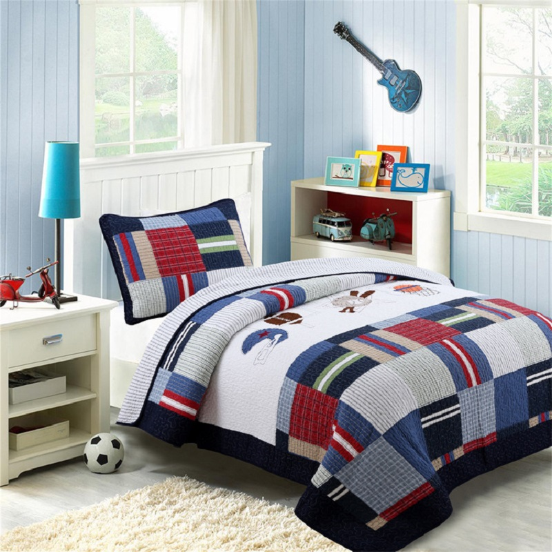 CHAUSUB Quality Kids Quilt Set 2pcs Washed Cotton Quilts Patchwork Quilted Bedspread Bed Cover Twin Size Boys Coverlet BlanketCHAUSUB Quality Kids Quilt Set 2pcs Washed Cotton Quilts Patchwork Quilted Bedspread Bed Cover Twin Size Boys Coverlet Blanket