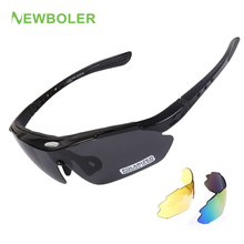 NEWBOLER Man/Women Polarized Cycling Sports Sun Glasses MTB Bike Outdoor Eyewear Racing Bicycle Goggle Sunglasses+3 Lens