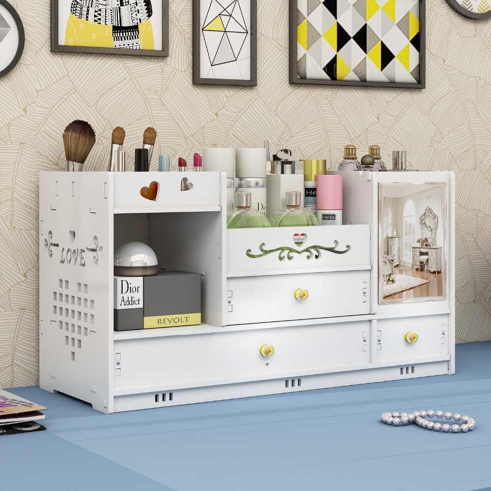 Cosmetic Storage Box Desktop Drawer Household Simplicity Mirror Dresser Finishing Box Skin Care Product Shelf storage box