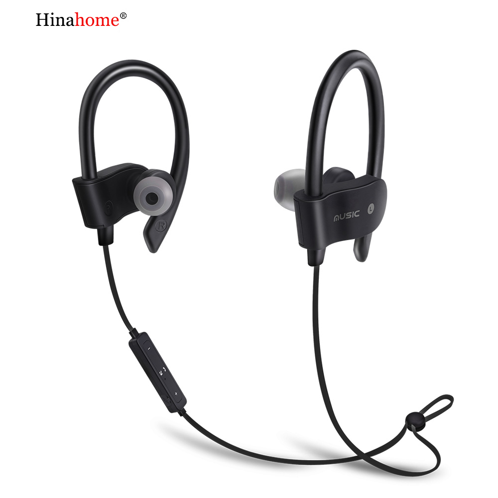 New Sport bluetooth 5.0 stereo earphone Noise Cancelling ear hook Headset HiFi Sound True Wireless Earbuds with microphone