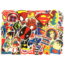 Pvc Stickers 50pcs/set Super Hero Waterproof