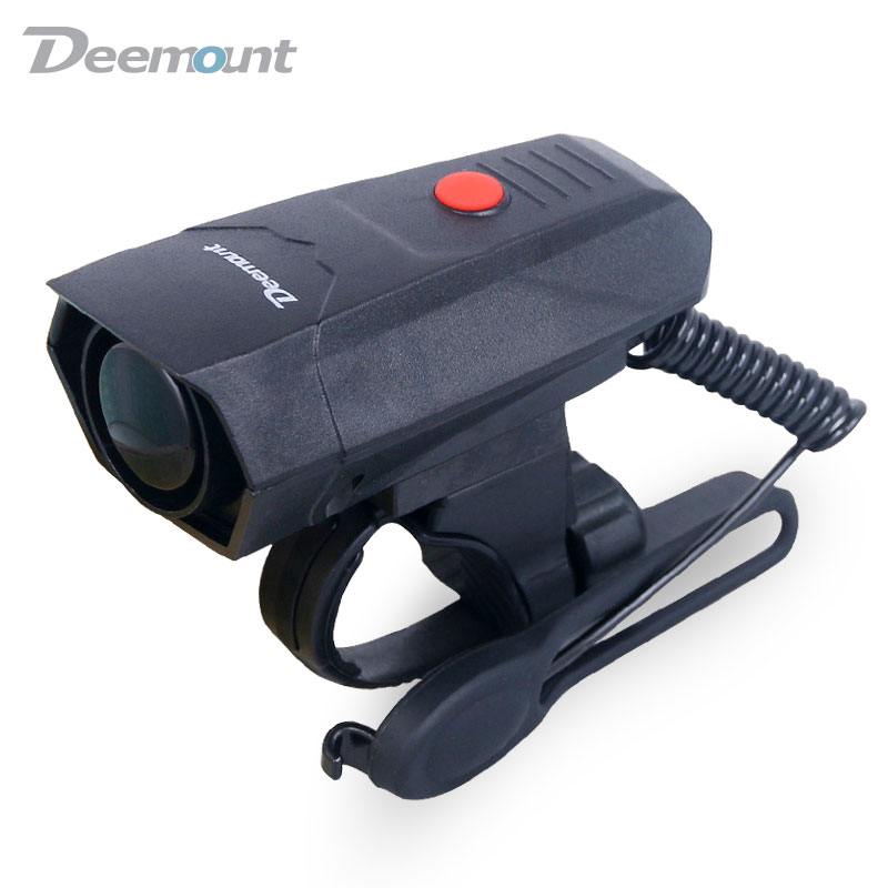 Deemount Electric Loud MTB Bicycle Air Horn Ring Road Bike Handlebar Bell Siren Cycling Air Alarm Alert 120db Noise 5 Sounds