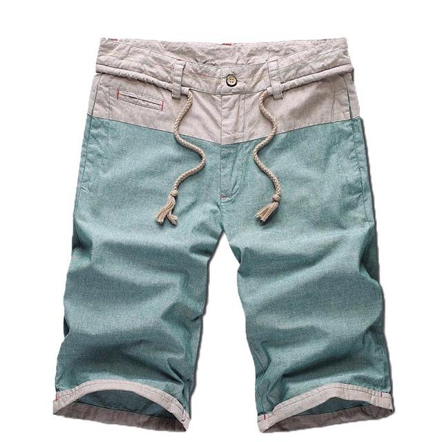 Nova chegada 2016 moda Quente do verão shorts para homens, short da praia dos homens, Shorts dos homens Casual Algodão Solto Calções Corda A40
