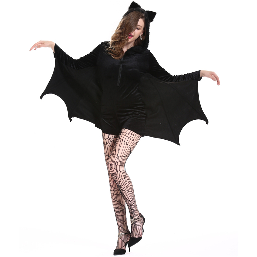 b0e68acc55 Plus Size Halloween Outfit for Women Scary Costumes Dress Sexy Vampire  Devil Bat Day of The Dead Party Cosplay Woman Clothing