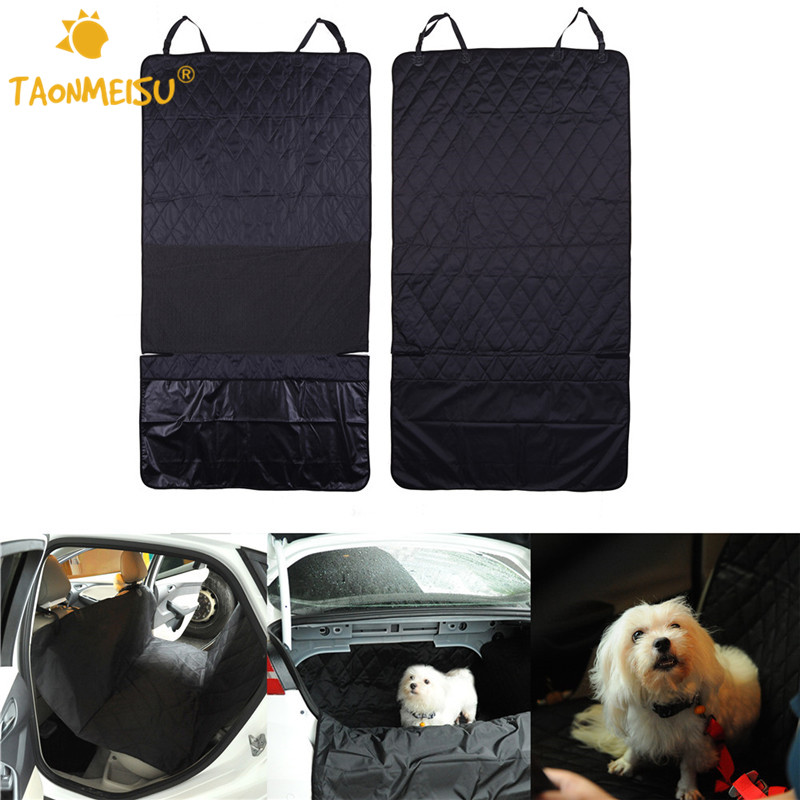 Pet Dog Safety Mats Waterproof Vehicle SUV Trucks Car Rear Bench Seat Cover Mat For Puppy Kitten Car Travel Goods for Dogs