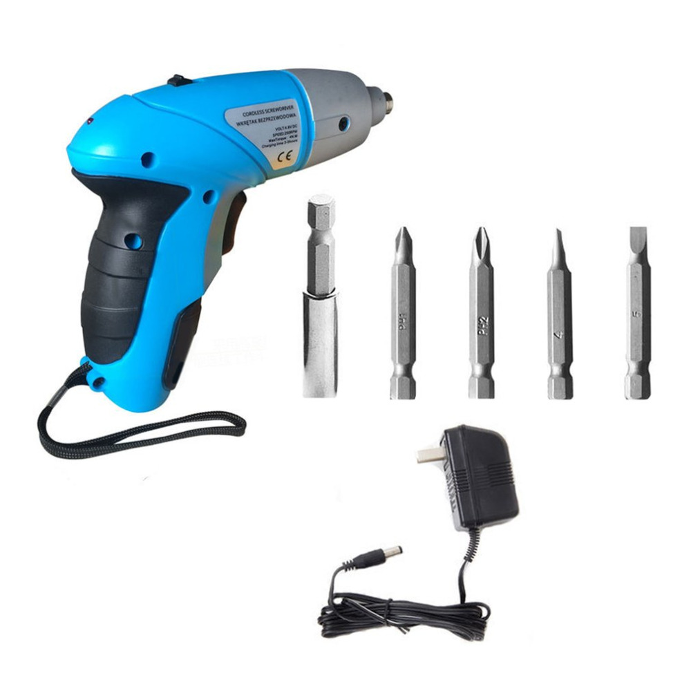 4.8V Rechargeable Electric Screwdriver Cordless Adjustable Multi-function Drill Bit Set Portable Handheld DIY Power Tool 2016 45 pcs rechargeable cordless reversible electric screwdriver 4 8v kit set hot handheld electric screwdriver
