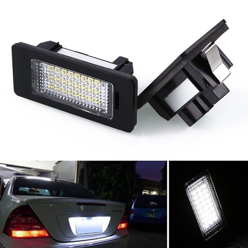Vehemo Car License Plate LED Light Lamp Bulb Assembly For BMW E39 E60 E61 E90 5Series 2x e marked obc error free 24 led white license number plate light lamp for bmw e81 e82 e90 e91 e92 e93 e60 e61 e39 x1 e84