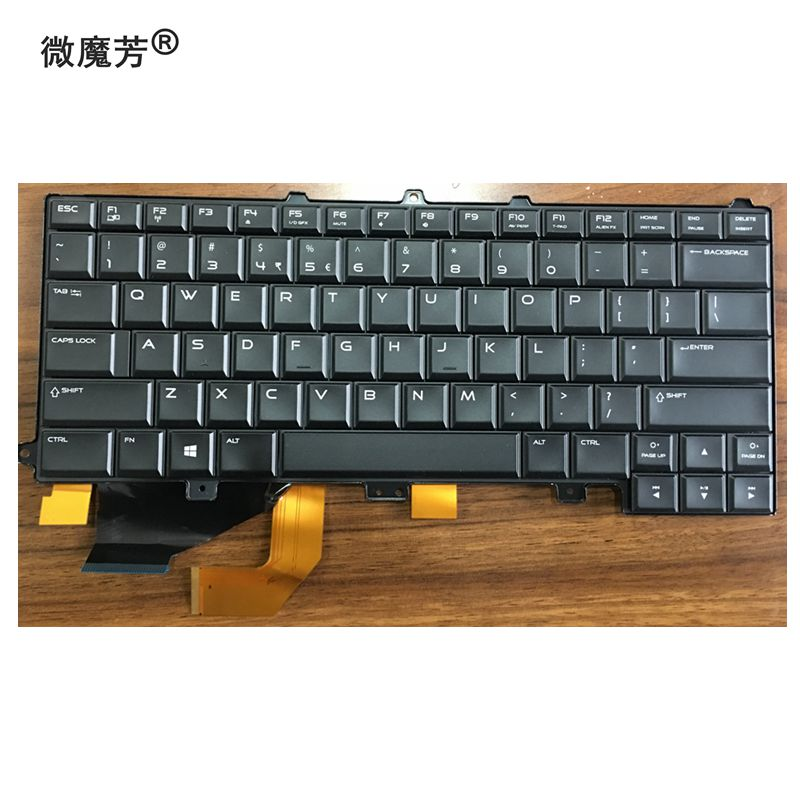 US New laptop Keyboard For DELL Alienware M14X R3 Backlit