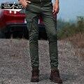 Армия Брюки-Карго Мужчины Штаны Карго Pantolon Мода 2017 Осень зима новый тонкий армия Зеленый брюки Хлопок