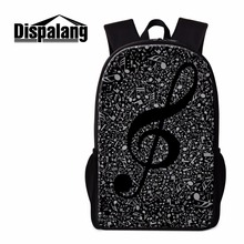 Dispalang Unique Backpack Patterns Musical Notes Art Bookbags Schoolbag for Girls Cool Rucksack for
