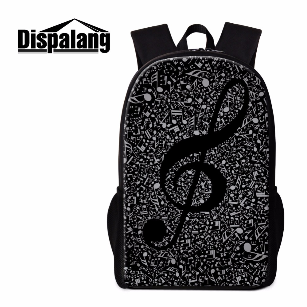 Dispalang Unique Backpack Patterns Musical Notes Art Bookbags Schoolbag for Girls Cool Rucksack for College High Class Back Pack