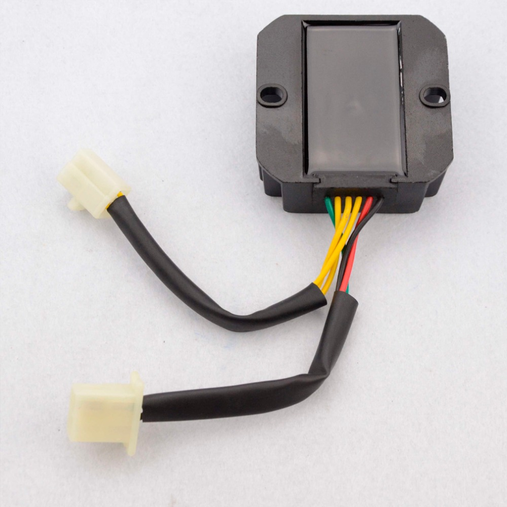 GOOFIT 6 Pin Voltage Regulator Rectifier for Honda Elite CH150 CH150D Scooter ATV