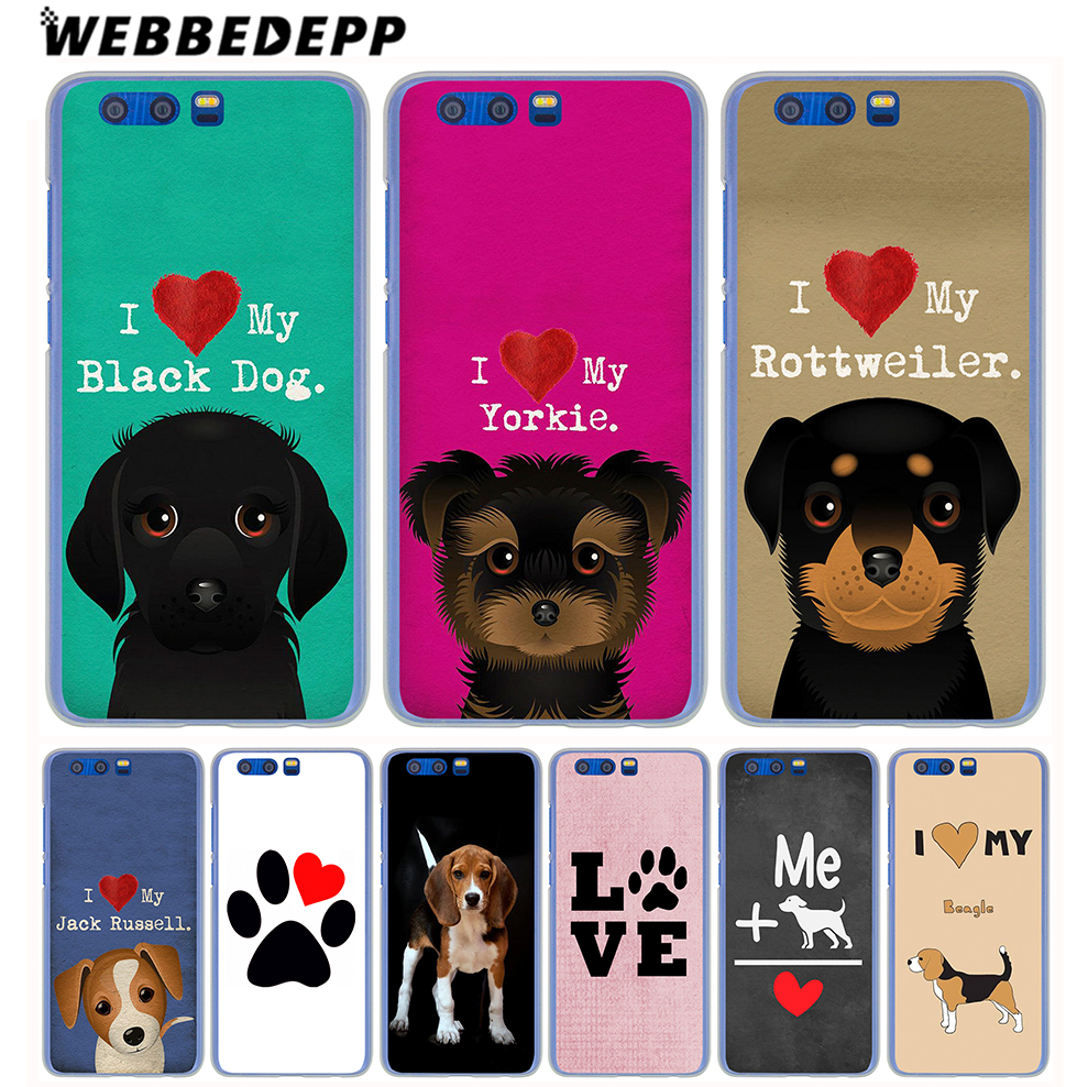 WEBBEDEPP I love my Beagle Dogs Phone Hard Case for Huawei Honor Play 9 8 10 Lite 8X 7X 6A 7A Pro 2GB 3GB Cover
