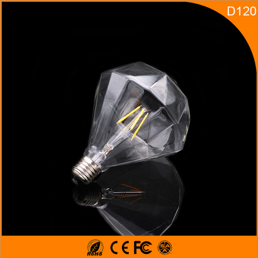 50PCS  3W D120 Vintage B22 E27 Led Bulb ,Retro Edison Light Bulb For Living Room Bedroom Coffee Bars AC 220-240V 5pcs e27 led bulb 2w 4w 6w vintage cold white warm white edison lamp g45 led filament decorative bulb ac 220v 240v
