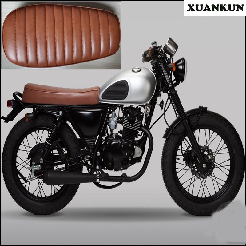 XUANKUN Cafe Racer 200/250 Vintage Motorcycle Modified Seat Cover 32016 hot cafe racer flat seat retro vintage locomotive refit motorcycle leather black a cover high quality waterproof