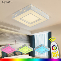 Площадь современного потолочный светильник для спальни Smart Светодиодный лампы RGB холодный белый теплый белый пульт дистанционного управле
