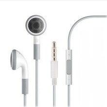 Estéreo de 3.5mm para fone de Ouvido Fone de Ouvido Controle de Volume & Mic para o iphone 5 6 6 s 5S 4 4S 3GS iPod ipad 2 3 Handfree Fone De Ouvido Fones de Ouvido