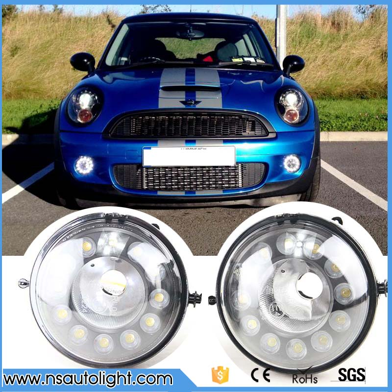 a pair LED drl light For Mini Cooper LED DRL waterproof 12V R55 R56 R57 R58 R60 R61 LED Daytime Running Light ABS material