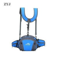 ZYJ Outdoor Multifunction Men Women Waist Bags Chest Pack Sport Backpacks Sling Travel Storage Crossbody Shoulder Bag Backpack