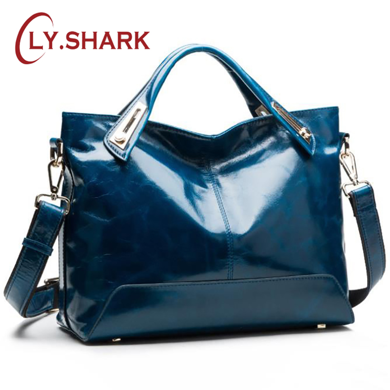 67bf243927ca SHARK Women Leather Handbags Luxury Handbags Cheap Women Messenger Bags  Designer Female Shoulder Bag