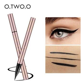 O.TWO.O negro líquido delineador de ojos de Super resistente al agua duradera de trazador de líneas del ojo fácil de usar maquillaje de ojos cosméticos herramientas