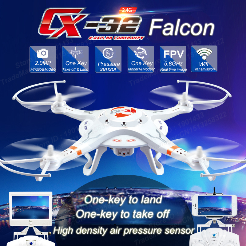 Original Cheerson CX-32S 4CH RC Drone With 1.0MP HD Camera One Key Landing/Take-off 5.8G FPV RC Quadcopter original cheerson parts hd camera for cheerson cx 20 cx20 rc quadcopter original parts sports hd dv camera 12 0mp