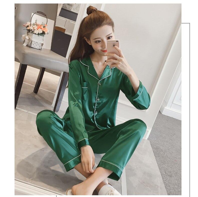 Silk Satin Pyjamas Set 18