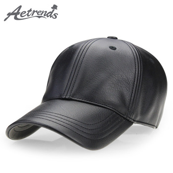 aorice new winter cotton cap genuine leather baseball cap hat men s real leather adult adjustable solid hats caps 3 colors hl132 [AETRENDS] Winter black PU leather cap dad hat 6 panel trucker hats solid baseball caps for men bone masculino Z-2658