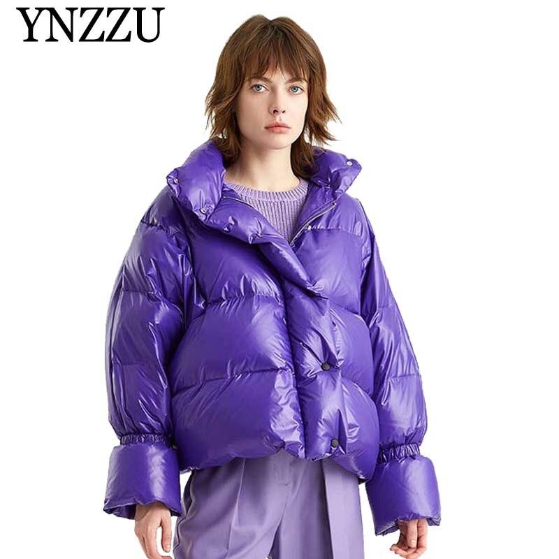 Korean Style 2019 New Winter Jacket Women Casual Short Fluffy Duck   Down     Coat   Woman Thicken Warm Loose Outwears Bread   Coat   AO808