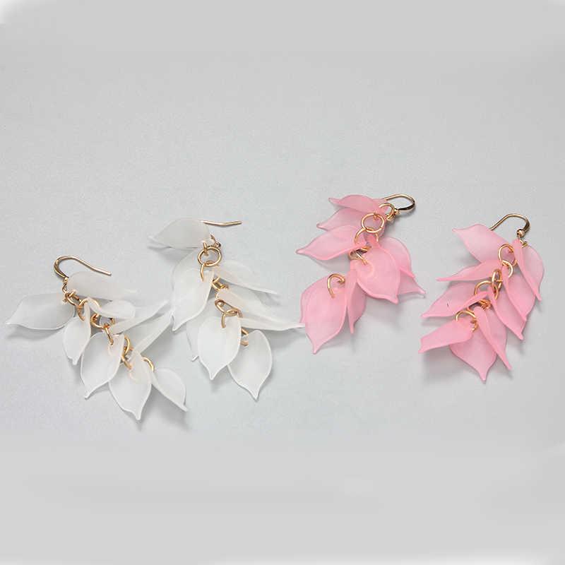 SUKI joyería coreana americana diseño minimalista sentido pendientes espiral onda curva pendientes para mujeres regalo pendientes joyería de moda