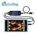 Digitalboy Универсальный Автомобиль Fm-передатчик Car Kit Mp3-плеер Handsfree FM Модулятор ЖК-Экран USB Зарядное Устройство для Samsung Аудио Музыка