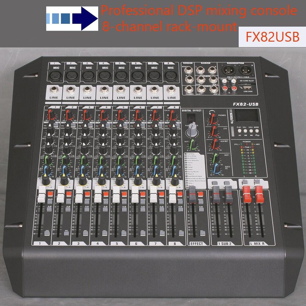 8 channel mixer audio fx82usb rack mount studio mixer console recording studio equipments mini. Black Bedroom Furniture Sets. Home Design Ideas