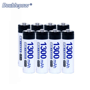 8pcs/Lot Doublepow DP-AA1300mAh 1.2V Ni-MH rechargeable battery in Actual High Capacity of 1300mAh Battery Cell FREE SHIPPING