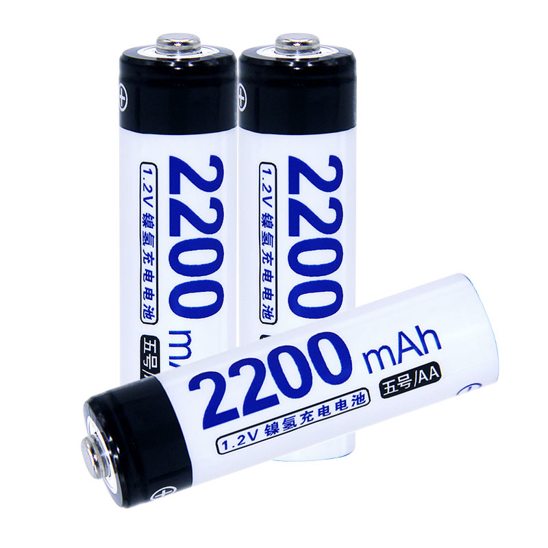 Real capacity! 3 pcs AA portable 1.2V NIMH AA rechargeable battery 2200mah for camera razor toy remote control flashlight 2A