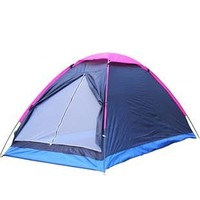 Camping Outdoortent For 2 Persons Beach Tent Travel Windproof Waterproof Awning Portable Blue Tents Outdoor