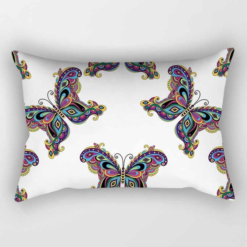 Caldo di vendita di bellezza farfalla cuscino copre rettangolo camera da letto cuscino casi di ragazzi ragazze uomini donne di viaggio copertura del cuscino 50*30 cm