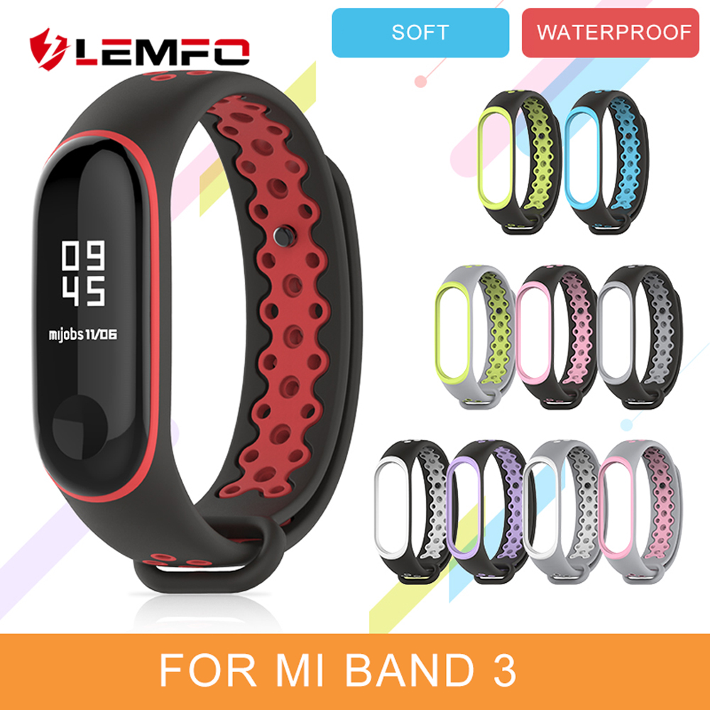 LEMFO Smart-Accessories Bracelet Mi-Band 3-Strap Xiaomi Silicone for 3-strap/Replacement/Waterproof/..