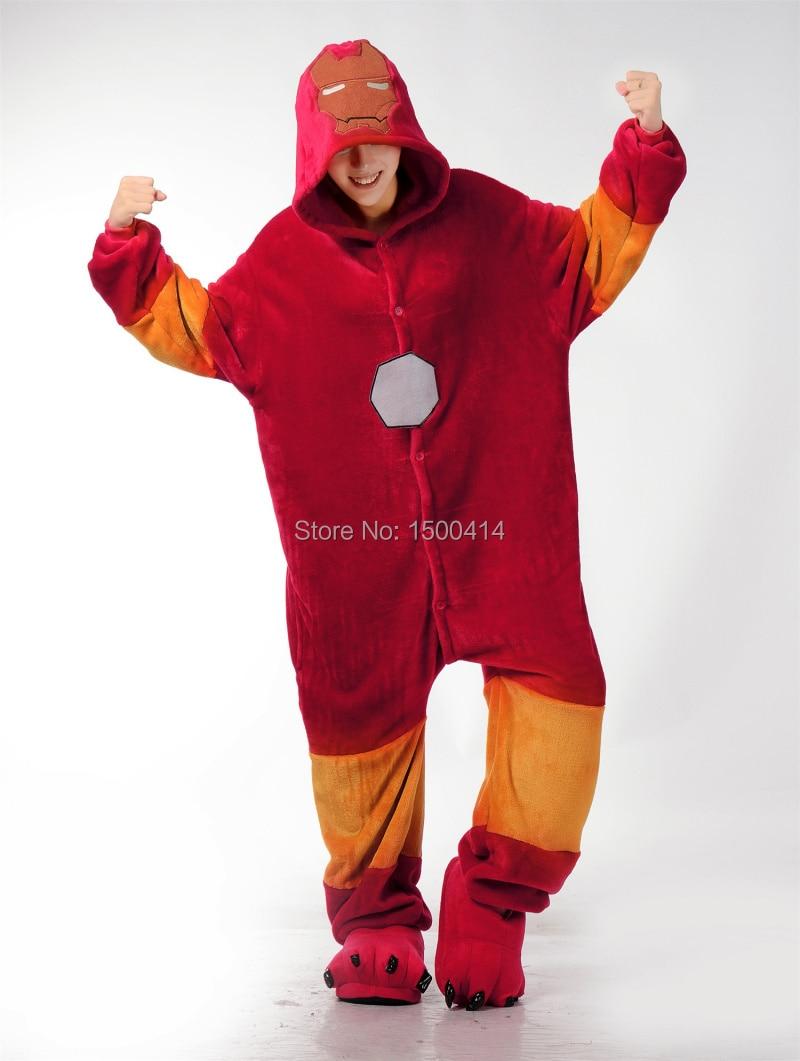 Unisex Adulto Cosplay Traje de Iron Man Onesie Pijama para Halloween - Disfraces - foto 1