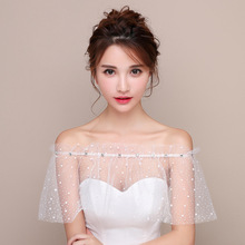 Spring and summer new banquet versatile bride accessories star lace diamond cape