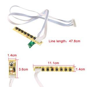 Image 2 - 3663 جديد الرقمية DVB C dvb t/T2 لوحة تحكم شاملة في التلفزيون الإل سي دي LED التلفزيون تحكم لوحة للقيادة 7 مفتاح زر الحديد يربك حامل 3463A الروسية