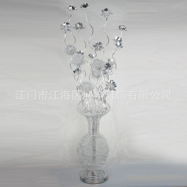 Aluminium Wire Floor Lamp Environmental Protection Led Lamps Creative Flower