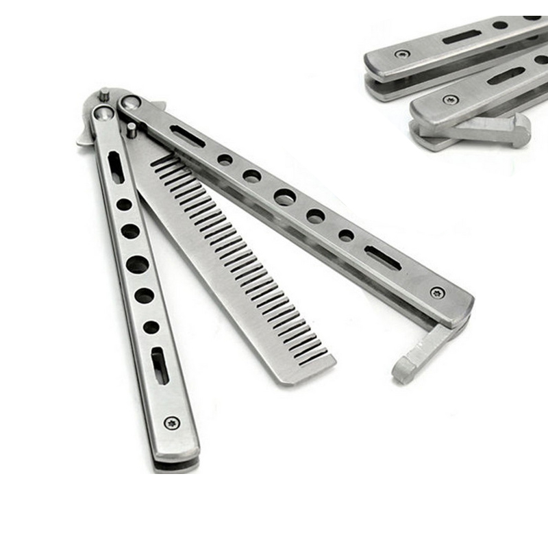 Tool Sets Tools 220mm Safty Practice Fold Mariposa Train Butterfly Balisong Knife Comb Finger Sports Practice Tool Not Edged Trainer Comb Pleasant To The Palate