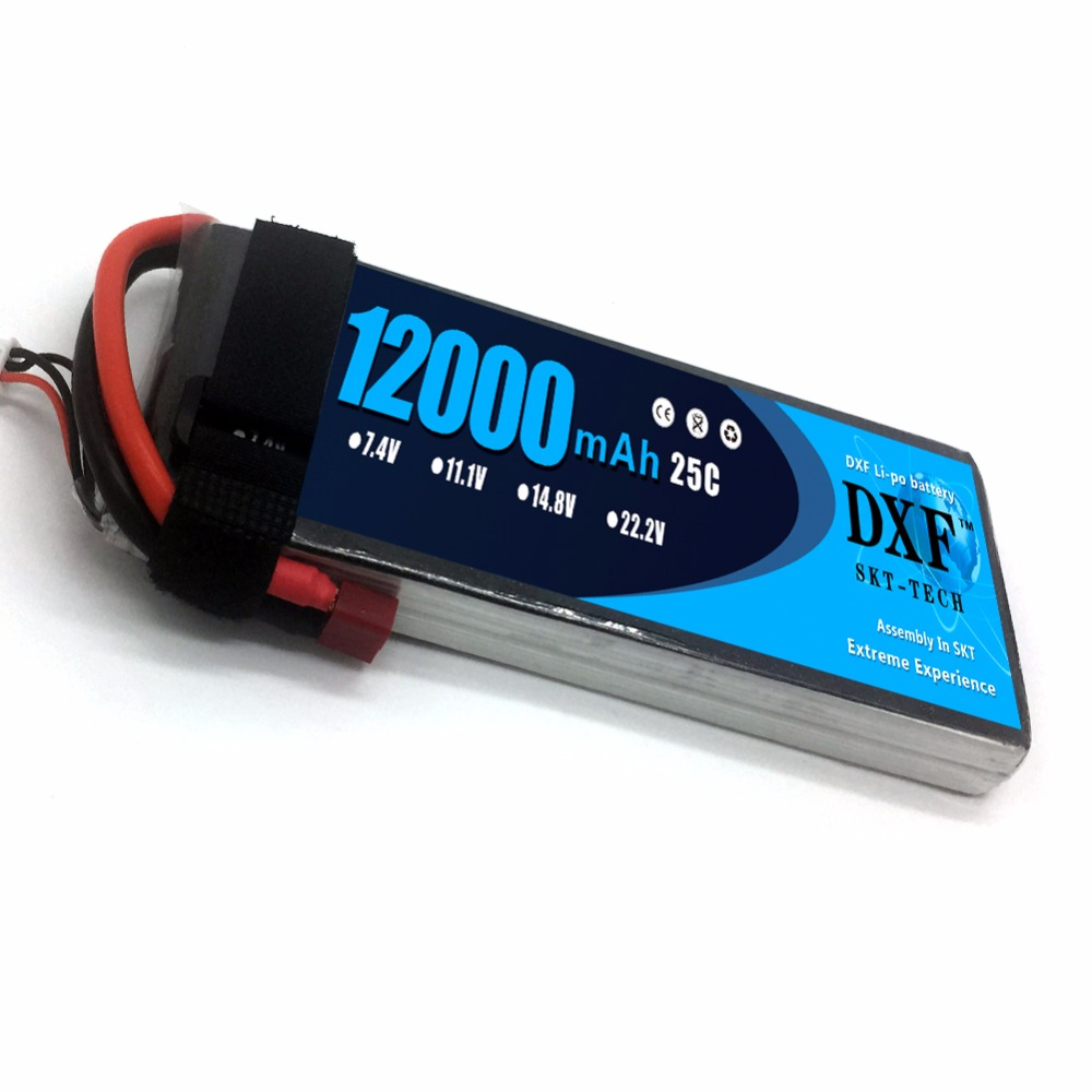 DXF 12000mAh 7.4V 2S 25C RC Lipo Battery For Helicopter S1000 Drone FPV UAV Car Boat image